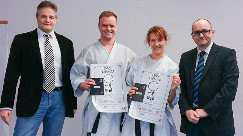 Karate-Urkunden nach bestandener Prüfung