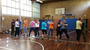 Fortsetzungskurs Selbstverteidigung Karate-Dojo Wermelskirchen e.V. /Foto: Daniela Kebel